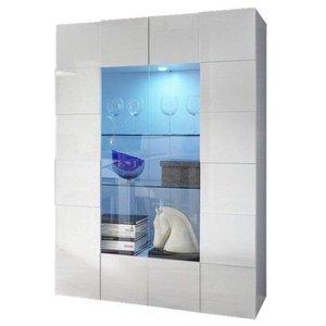 Benvenuto Design Dama Vitrinekast Hoogglans Wit met LED
