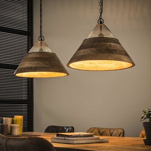 Davidi Design Vega Hanglamp 2x Ø40 houten kap
