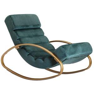 Sky Style Lounger Relaxfauteuil Velvet Groen