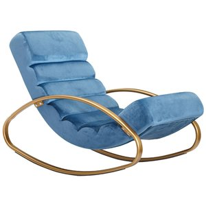 Sky Style Lounger Relaxfauteuil Velvet Blauw
