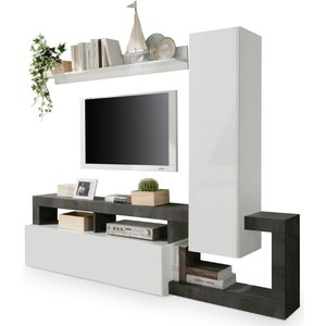 Benvenuto Design Hamburg TV-wandmeubel Set 2 Wit / Oxid