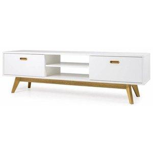 Tenzo Bess TV meubel Wit/Eiken