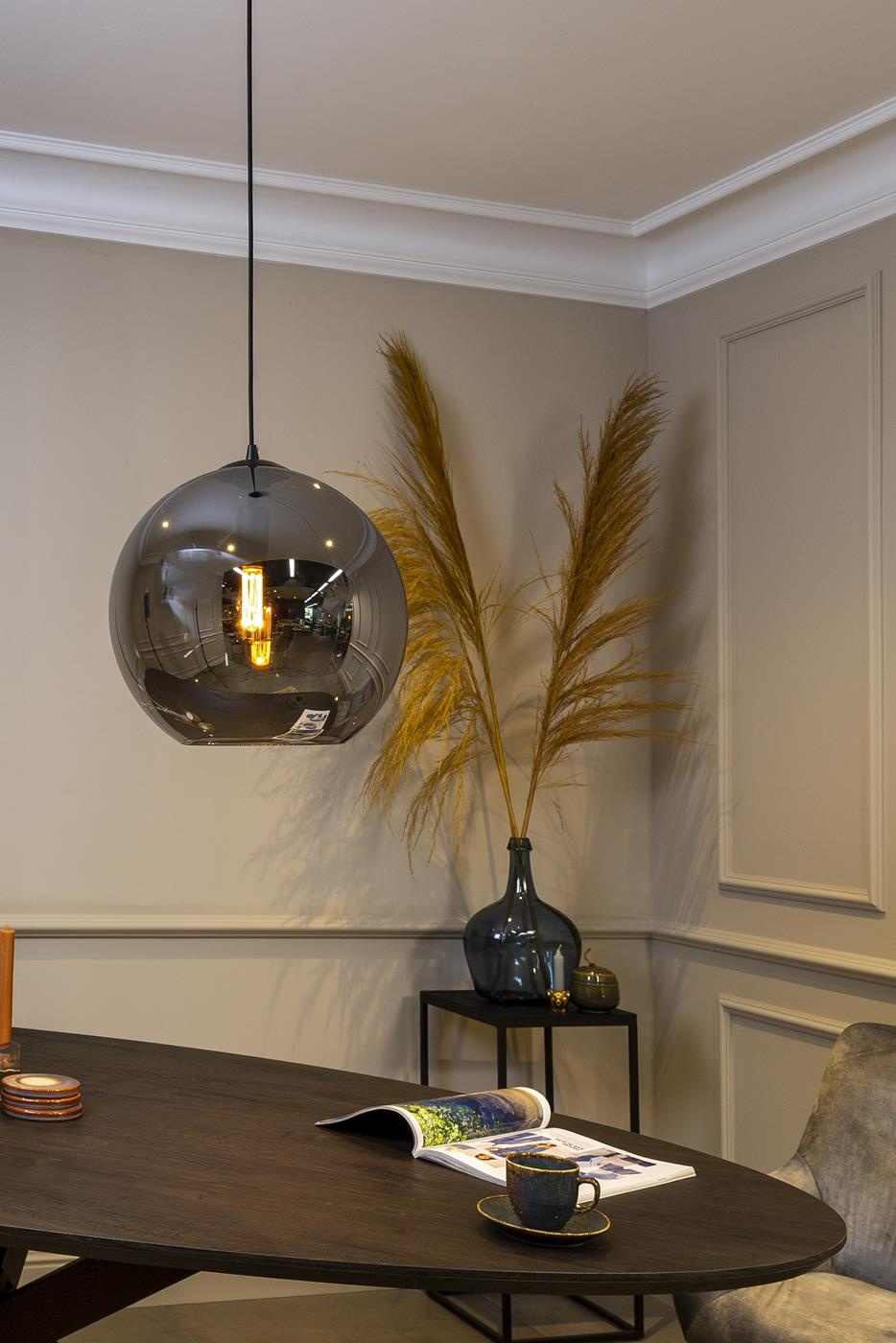 Lions Design Shelbey Hanglamp Smoke Glas Kopen Bij Furnea
