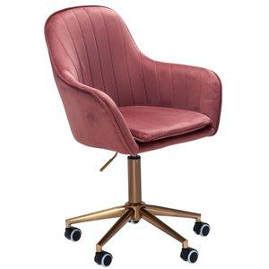 Sky Style Solo Bureaustoel Velvet Roze