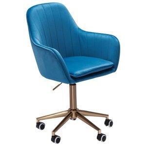 Sky Style Solo Bureaustoel Velvet Blauw