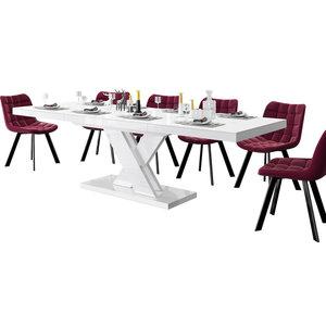 Hubertus Meble Xenon Lux Uitschuifbare Eettafel Wit