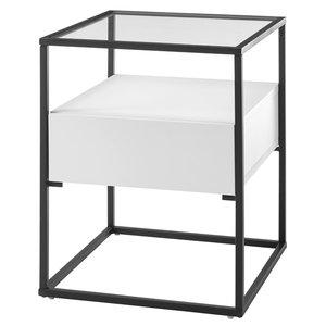 Nova Design Evora  Bijzettafel Glas Wit