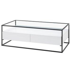 Nova Design Evora Salontafel Glas Wit