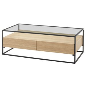 Nova Design Evora Salontafel Glas Eiken