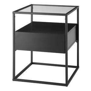 Nova Design Evora  Bijzettafel Glas Zwart