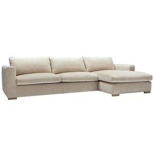 Sits Sophia 3-zits + Chaise Longue Hoekbank Nature