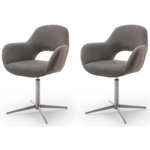 Nova Design Melrose Armstoel Cappuccino / RVS