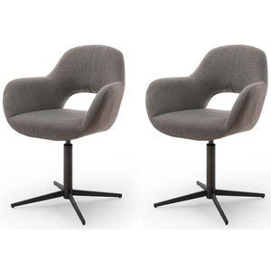 Nova Design Melrose Armstoel Cappuccino / Zwart