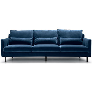 Sits Sally 3,5-Zits Bank Velvet Blauw