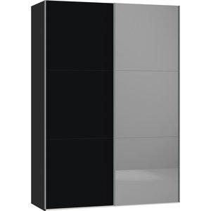 Jutzler Zwart/Donker Spiegel Schuifdeurkast 152 cm