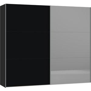 Jutzler Zwart/Donker Spiegel Schuifdeurkast 253 cm