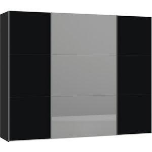 Jutzler Zwart/Donker Spiegel Schuifdeurkast 278 cm