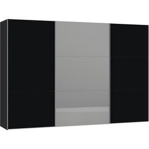 Jutzler Zwart/Donker Spiegel Schuifdeurkast 328 cm
