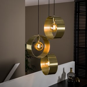 Davidi Design Vegas Hanglamp 3L Goud Getrapt