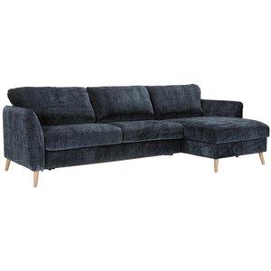 Sits Lucy 3-Zits + Divan 140 cm Slaapbank Donkerblauw