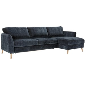 Sits Lucy 4-Zits + Divan 160 cm Slaapbank Donkerblauw