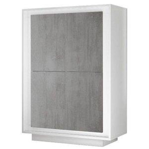 Benvenuto Design Sky Opbergkast Cement/Wit