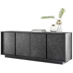Benvenuto Design Carrara Dressoir 4 deurs Antraciet
