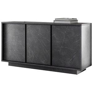 Benvenuto Design Carrara Dressoir 3 deurs Antraciet