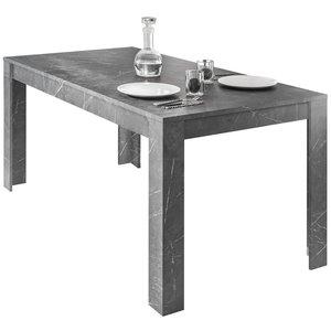 Benvenuto Design Carrara Uitschuifbare Eettafel Antraciet