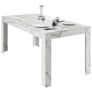 Benvenuto Design Carrara Uitschuifbare Eettafel Wit
