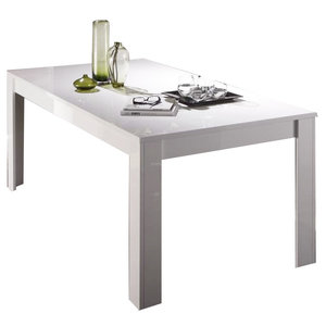 Benvenuto Design Ice Uitschuifbare Eettafel Wit Hoogglans