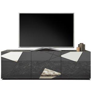 Benvenuto Design Vittoria TV-meubel Grijs Hoogglans