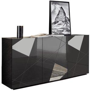 Benvenuto Design Vittoria Dressoir 3-Deurs Grijs Hoogglans