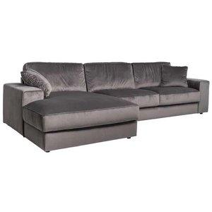 Richmond Interiors Santos 3 zits + Lounge Links Hoekbank Steengrijs