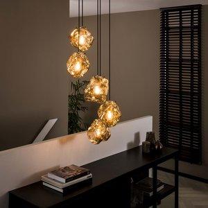 Davidi Design Rock Chromed Hanglamp 5L Getrapt