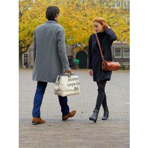 Mutsaers Leather ladies bag - The Volpe - Cognac Croco