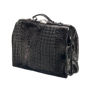 Mutsaers Leather Laptop Bag - The classic - Black Croco