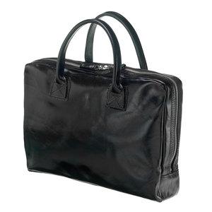 Mutsaers Leather Laptop Bag - The Windsor - Black