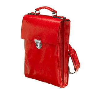 Mutsaers Ladies Bag - Leather Backpack - The Ryder - Red