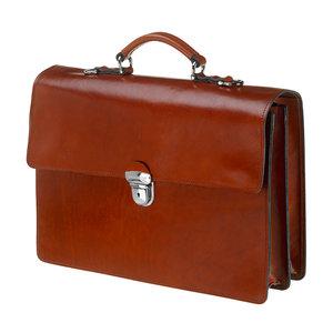 Mutsaers Leather Briefcase - The Jones - Chestnut