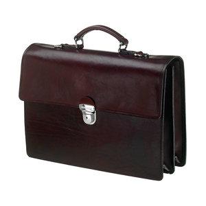 Mutsaers Leather Briefcase - The Jones - Dark brown