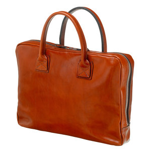 Mutsaers Leather Laptop Bag - The Windsor - Cognac
