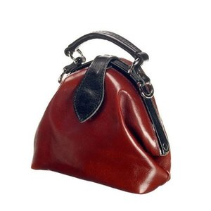 Mutsaers Ladies Bag - Leather ladies bag - The Vesper - Chestnut / black