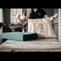 Mutsaers Leren Laptoptas - The Classic - Wit-Zwart Croco