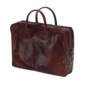 Mutsaers Leather Laptop Bag - The Sleeve Plus - Dark Brown
