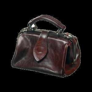 Mutsaers Leather Ladies Bag - Miss Doctor - Dark brown
