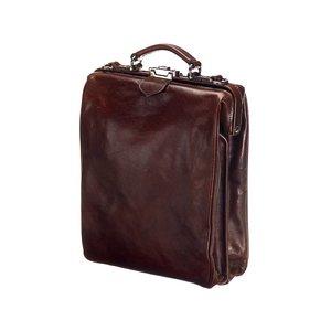 Mutsaers Ladies Bag - Leather Backpack - On The Bag - Dark Brown