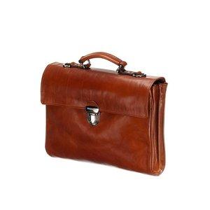 Mutsaers Leather Laptop Bag - The Walker - Cognac