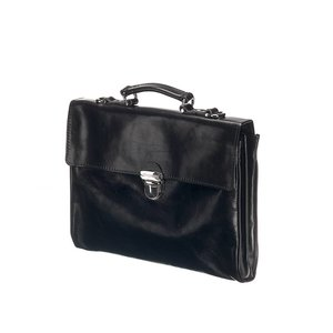 Mutsaers Leather Laptop Bag - The Walker - Black