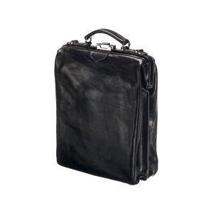 Mutsaers Leather Backpack - On The Bag - Black